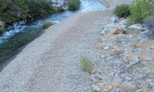 Guardian Rock site -- a lateral berm